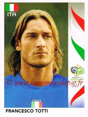 2006 - Panini FIFA World Cup Germany Stickers - N° 338 - Francesco TOTTI (Italie)