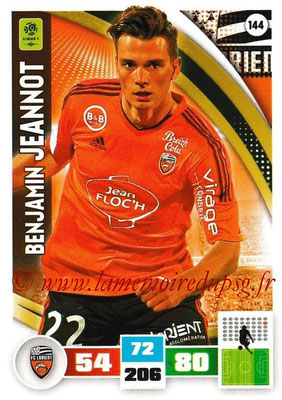 2016-17 - Panini Adrenalyn XL Ligue 1 - N° 144 - Benjamin JEANNOT (Lorient)