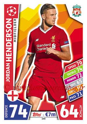 2017-18 - Topps UEFA Champions League Match Attax - N° 188 - Jordan HENDERSON (Liverpool FC)