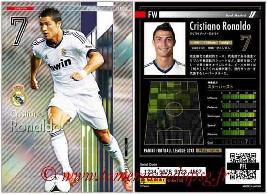 Panini Football League 2013 - PFL02 - N° 142 - Cristiano Ronaldo ( Real Madrid ) (Super FW)