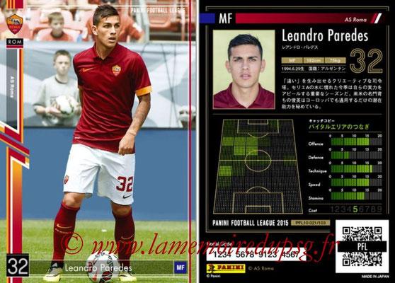 Panini Football League 2015 - PFL10 - N° 020 - Leandro PAREDES (AS Roma)