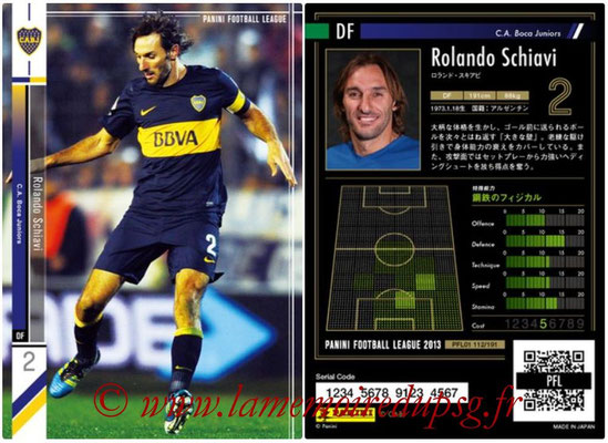 Panini Football League 2013 - PFL01 - N° 112 - Rolando Schiavi ( C.A. Boca Juniors )