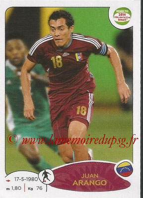 2014 - Panini Road to FIFA World Cup Brazil Stickers - N° 236 - Juan ARANGO (Vénézuela)