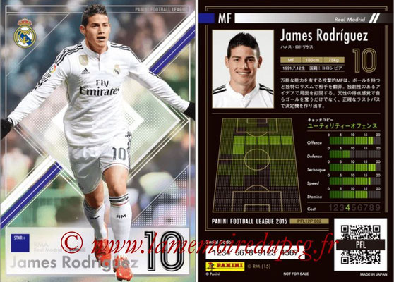 Panini Football League 2015 - PFL12P - N° 002 - James RODRIGUEZ (Real Madrid) (Star +)