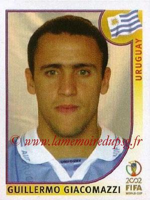 2002 - Panini FIFA World Cup Stickers - N° 072 - Guillermo GIACOMAZZI (Uruguay)