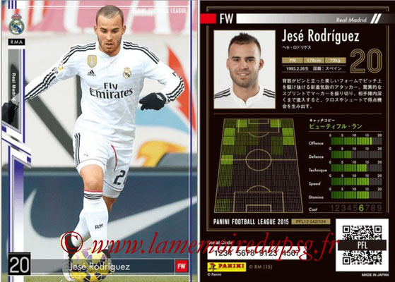 Panini Football League 2015 - PFL12 - N° 042 - Jesé RODRIGUEZ (Real Madrid)
