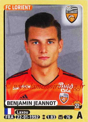 2015-16 - Panini Ligue 1 Stickers - N° 190 - Benjamin JEANNOT (FC Lorient)