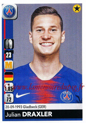 2018-19 - Panini Ligue 1 Stickers - N° 363 - Julian DRAXLER (Paris Saint-Germain)