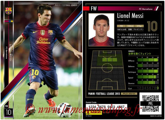 Panini Football League 2013 - PFL01 - N° 055 - Lionel Messi ( FC Barcelona )