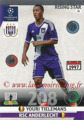 2014-15 - Adrenalyn XL champions League N° 044 - Youri TIELEMANS (RSC Anderlecht) (Rising Star)