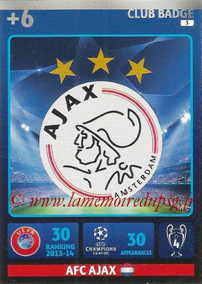 2014-15 - Adrenalyn XL champions League N° 003 - Logo AFC Ajax (Club Badge)