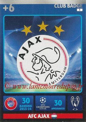 2014-15 - Adrenalyn XL champions League N° 003 - Logo AFC Ajax (Club Badge)