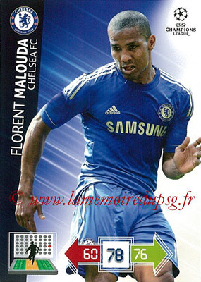 2012-13 - Adrenalyn XL champions League N° 094 - Florent MALOUDA (Chelsea FC)