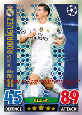 2015-16 - Topps UEFA Champions League Match Attax - N° P23 - James RODRIGUEZ (Real Madrid CF) (Pro 11)