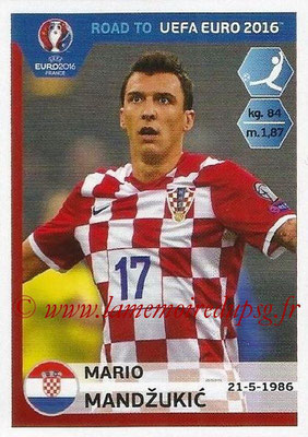 Panini Road to Euro 2016 Stickers - N° 144 - Mario MANDZUKIC (Croatie)