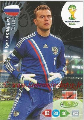 2014 - Panini FIFA World Cup Brazil Adrenalyn XL - N° 281 - Igor AKINFEEV (Russie)