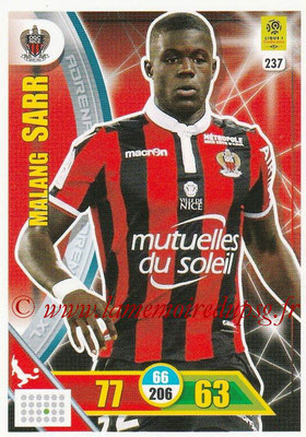 2017-18 - Panini Adrenalyn XL Ligue 1 - N° 237 - Malang SARR (Nice)