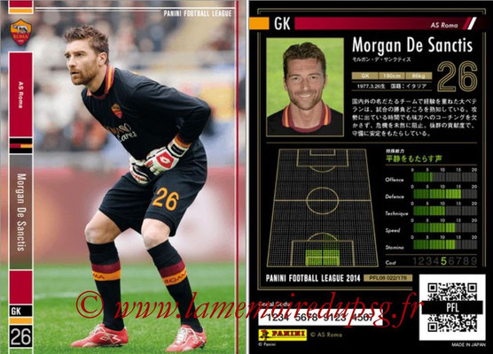 Panini Football League 2014 - PFL08 - N° 022 - Morgan DE SANCTIS (AS Rome)