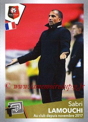 2017-18 - Panini Ligue 1 Stickers - N° T27 - Sabri LAMOUCHI (Entraîneur Rennes) (Transfert)