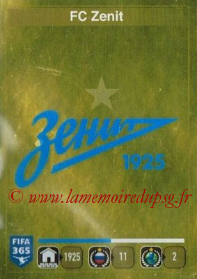 2015-16 - Panini FIFA 365 Stickers - N° 731- Ecusson FC Zenit