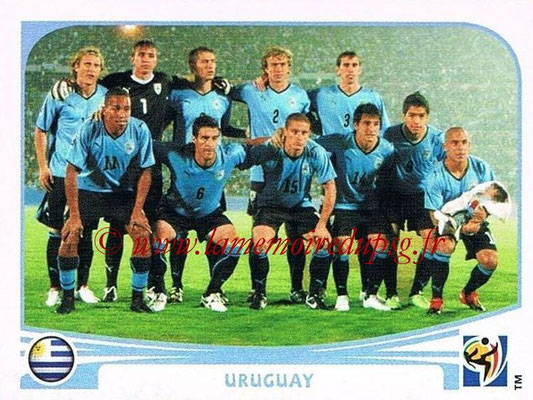2010 - Panini FIFA World Cup South Africa Stickers - N° 068 - Équipe Uruguay