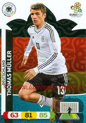 Panini Euro 2012 Cards Adrenalyn XL - N° 040 - Thomas MÜLLER (Allemagne)