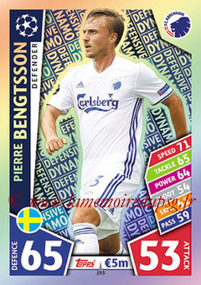 2017-18 - Topps UEFA Champions League Match Attax - N° 293 - Pierre BENGTSSON (FC Copenhague) (Defensive Dynamo)