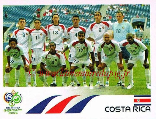 2006 - Panini FIFA World Cup Germany Stickers - N° 036 - Équipe Costa Rica