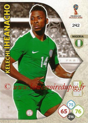 2018 - Panini FIFA World Cup Russia Adrenalyn XL - N° 242 - Kelechi IHEANACHO (Nigeria)