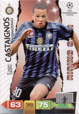 2011-12 - Panini Champions League Cards - N° 117 - Luc CASTAIGNOS (Inter Milan) (Rising Star)