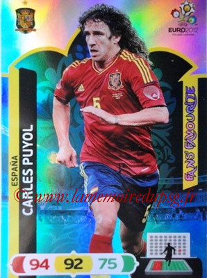 Panini Euro 2012 Cards Adrenalyn XL - N° 251 - Carles PUYOL (Espagne) (Fans' Favourite)