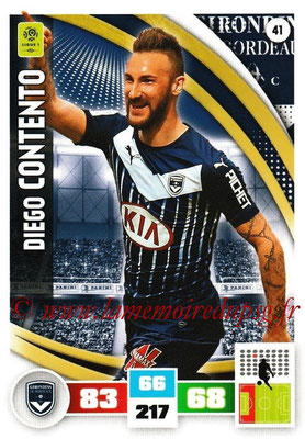 2016-17 - Panini Adrenalyn XL Ligue 1 - N° 041 - Diego CONTENTO (Bordeaux)