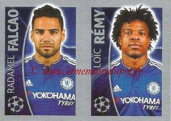 2015-16 - Topps UEFA Champions League Stickers - N° 463 - Radamel FALCAO + Loîc RÉMY (Chelsea FC)