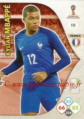 2018 - Panini FIFA World Cup Russia Adrenalyn XL - N° 151 - Kylian MBAPPE (France)