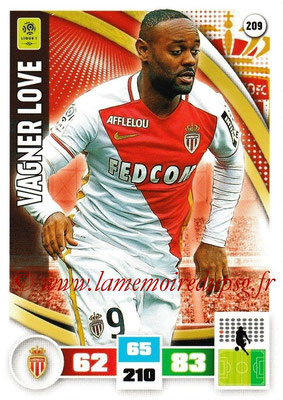 2016-17 - Panini Adrenalyn XL Ligue 1 - N° 209 - Vagner LOVE (Monaco)