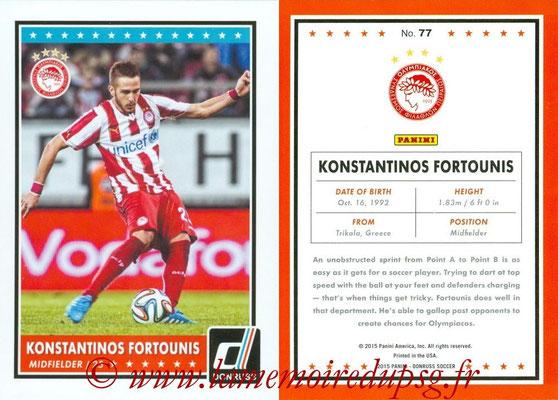 2015 - Panini Donruss Soccer - N° 077 - Konstantinos FORTOUNIS (Olympiacos FC)
