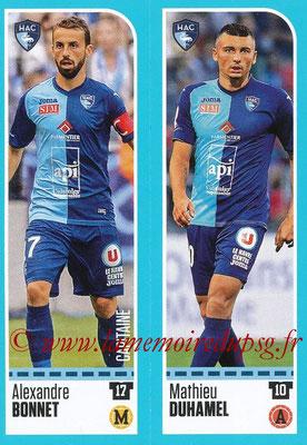 2016-17 - Panini Ligue 1 Stickers - N° 877 + 878 - Alexandre BONNET + Mathieu DUHAMEL (Le Havre)