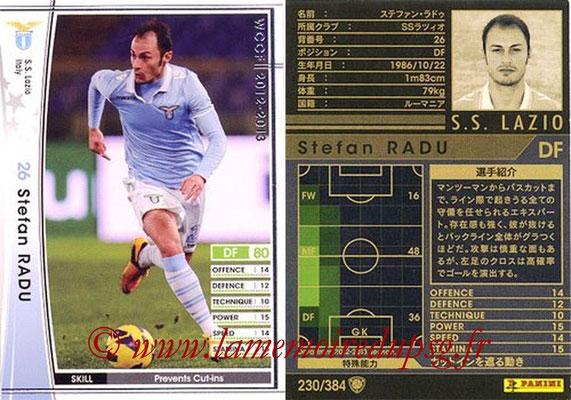 2012-13 - WCCF - N° 230 - Stefan RADU (SS Lazio)