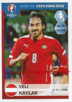 Panini Road to Euro 2016 Stickers - N° 199 - Veli KAVLAK (Autriche)