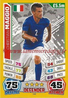 Topps Match Attax England 2014 - N° 148 - Christian MAGGIO (Italie)