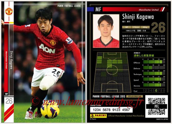 Panini Football League 2013 - PFL03 - N° 062 - Shinji Kagawa (Manchester United)