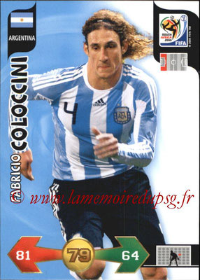 2010 - Panini FIFA World Cup South Africa Adrenalyn XL - N° 010 - Fabricio COLOCCINI (Argentine)