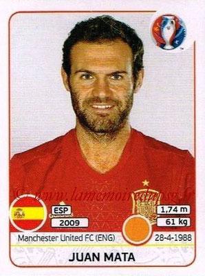 Panini Euro 2016 Stickers - N° 367 - Juan MATA (Espagne)