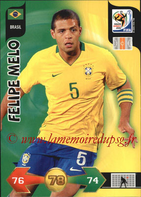 2010 - Panini FIFA World Cup South Africa Adrenalyn XL - N° 039 - Felipe MELO (Bresil)