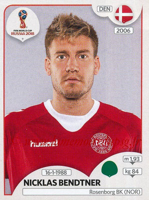 2018 - Panini FIFA World Cup Russia Stickers - N° 268 - Nicklas BENDTNER (Danemark)