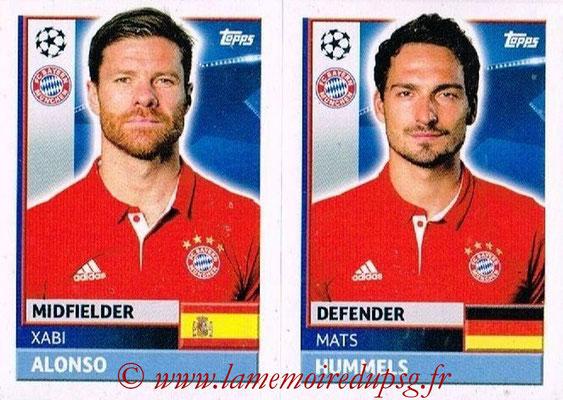 2016-17 - Topps UEFA Champions League Stickers - N° BMU 8-9 - Mats HUMMELS + Xabi ALONSO (FC Bayern Munich)