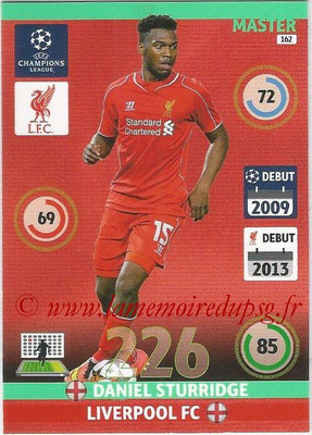 2014-15 - Adrenalyn XL champions League N° 162 - Daniel STURRIDGE (Liverpool FC) (Master)