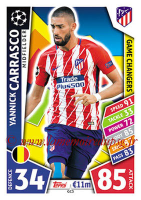 2017-18 - Topps UEFA Champions League Match Attax - N° GC03 - Yannick CARRASCO (Club Atlético de Madrid) (Game Changers)