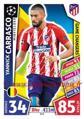 2017-18 - Topps UEFA Champions League Match Attax - N° GC03 - Yannick CARRASCO (Club Atlético de Madrid) (Game Changers)