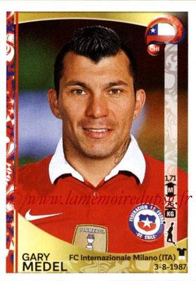 Panini Copa America Centenario USA 2016 Stickers - N° 336 - Gary MEDEL (Chili)